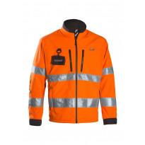Työtakki Dimex 688R, softshell, hi-vis, oranssi/musta