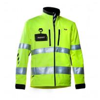 Työtakki Dimex 688, softshell, hi-vis, keltainen/musta