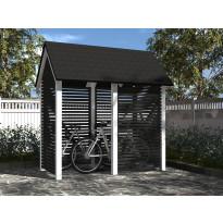 Polkupyöräkatos Gardenlife, 1200 mm x 2300 mm, harjakatolla