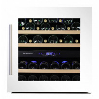 Viinikaappi Dunavox DAB-36.80DW, 590x595x563 mm, kahden lämpöalueen, valkoinen