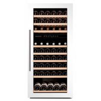 Viinikaappi Dunavox DAB-89.215DW, 590x1240x560 mm, kahden lämpöalueen, valkoinen