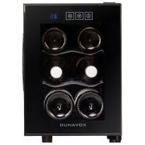 Viinikaappi Dunavox DAT-6.16C, 252x378x510 mm, yhden lämpöalueen