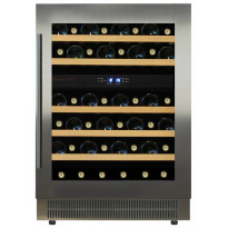 Viinikaappi Dunavox DAU46.146DSS, 595x820x562 mm, kahden lämpöalueen