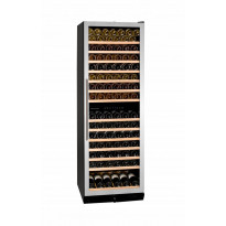 Viinikaappi Dunavox DX-166.428SDSK, 595x1770x680 mm, kahden lämpöalueen