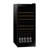 Kahden lämpötilan viinikaappi Dunavox DX-46.128DK, 480x1125x470 mm
