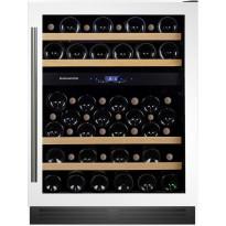 Viinikaappi Dunavox DX53.130DWK/DP, 595x820x557 mm, kahden lämpöalueen, valkoinen