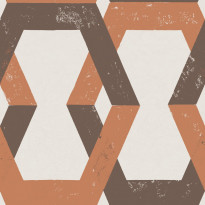 Tapetti Engblad & Co Global Living, Tribe 6474, 0.53x10.05m, ruskea/oranssi