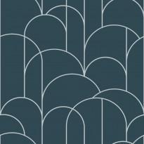 Tapetti Engblad & Co Graphic World, Arch 8825, 0.53x10.05m, vihreä