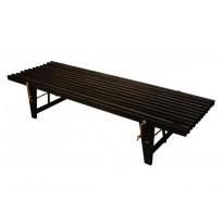 Penkki EcoFurn Daybed, 190cm, tervaleppä, musta