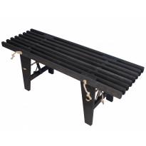 Ekopenkki EcoFurn 120cm, tervaleppä, musta