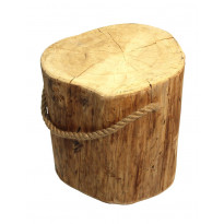 Pöytä EcoFurn Pölkky, Ø35-42x45cm, käsittelemätön