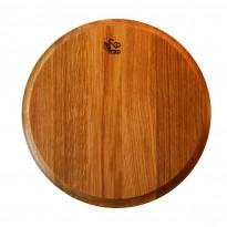 Tarjotin EcoFurn, Ø31x2,5cm, tammi, pellavaöljytty