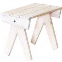 Pöytä EcoFurn Granny mänty, kuultovalkoinen