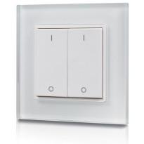 LED-himmennin FTLight 12-36V, langaton, painonappi, 2-kytkin, seinäasennus, 86x86x13mm