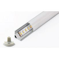 LED-asennuslista FTLight, alumiini, kulma-asennus, maitolasi, 2,0m