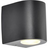 LED-ulkoseinävalaisin FTLight Diva, 65x95x145mm, ylös/alas, tummanharmaa