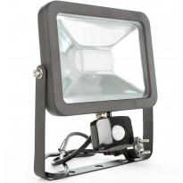 LED-valonheitin LED Energie Cspot, 50W, IP43, 3500lm, 295x340x34mm, musta, liiketunnistimella