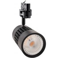 LED-kiskovalaisin FTLight, 25W, 2000lm, 3000K, 3-vaihekiskoon, musta