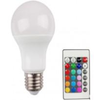 LED-vakiokupulamppu LED Energie, 9W, 806lm, RGB + white + kaukosäädin, 60x114mm