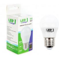 LED-pienikupulamppu LED Energie, E27, 5W, 400lm, G45, himmennettävä