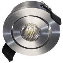 LED-alasvalo FTLight Moodspot, 3W, IP44, 4000K, himmennettävä, hopea