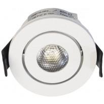 LED-alasvalo FTLight Moodspot, 3W, IP44, 4000K, himmennettävä, valkoinen