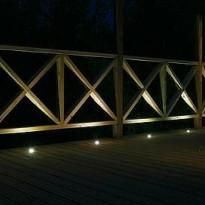 LED-terassivalosarja Easy Lighting, 4x0,2W, IP44, 3000K, 4 kpl + hämäräkytkin
