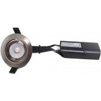 LED-alasvalo FTLight Lumispot, 4,5W, IP22/IP20, 230lm, 3000K, himmennettävä, mattakromi