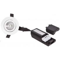 LED-alasvalo FTLight Lumispot, 4,5W, IP44/IP23, 230lm, 3000K, himmennettävä, valkoinen