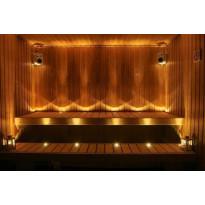 LED-saunavalosarja Easy Lighting, 12-osainen, lämmin valkoinen, messinki