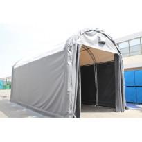 Pressutalli Work Premium, 4x8x4.2m, oviaukko 3.2x3m, 900g/m2