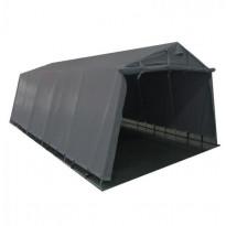 Pressutalli Prohall, 7x3.4x2.2m, oviaukko 1.6x2.8-3.4m, 500g/m2, harmaa