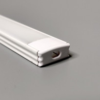 LED-asennuslista FTLight, 2m, läpikuultava maitolasi, valkoinen