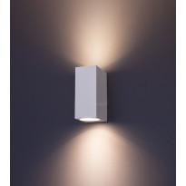 LED-seinävalaisin FTLight Diva, GU10, 2x28W, IP44, valkoinen