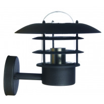 Seinävalaisin LED Energie, E27, 60W, IP44, musta