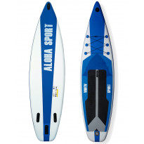 SUP-lautasetti Aloha Sport, ilmatäytteinen, 335x81x15cm, max. 140kg, Verkkokaupan poistotuote