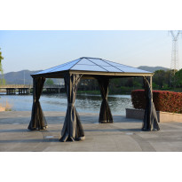 Paviljonki Aarni Premium, 3x3,6m, grafiitinharmaa