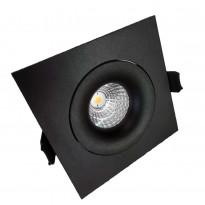LED-alasvalo FTLight QSPOT, 5W, IP44, 3000K, himmennettävä, musta