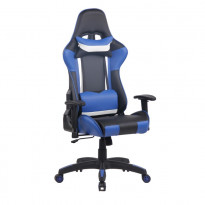 Pelituoli Game Racing Deluxe, sininen/musta/valkoinen
