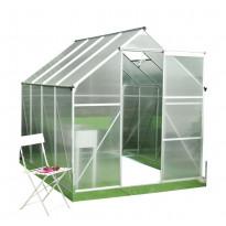 Kasvihuone Viheraarni Luxus, 4.8m², 4mm kennolevyllä, alumiinirunko
