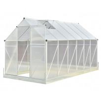 Kasvihuone Viheraarni Luxus, 7m², 4mm kennolevyllä, alumiinirunko