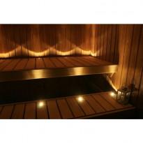 LED saunavalosetti, Aarni, 12 osaa lämmin valkoinen messinki