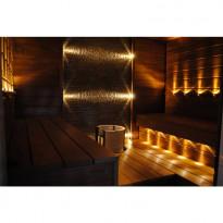LED, saunavalosetti, Aarni, 12 osaa lämmin valkoinen teräs kehys