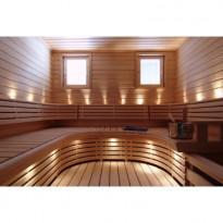 LED saunavalosetti, Aarni, 18 osaa, lämmin valkoinen, messinki