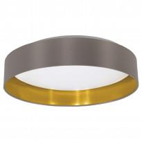 LED-kattovalaisin Eglo Maserlo, 16W, Ø405x100mm, IP20, ruskea/kulta