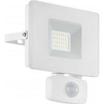 LED-ulkoseinävalaisin/-valonheitin Eglo Faedo, 140x130mm, liiketunnistimella, valkoinen