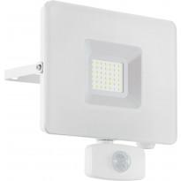 LED-ulkoseinävalaisin/-valonheitin Eglo Faedo, 190x175mm, liiketunnistimella, valkoinen
