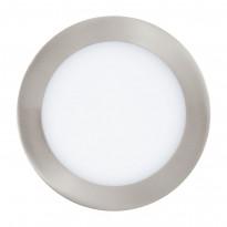 LED-kattovalaisin Eglo Crosslink Fueva-C,10.5W, Ø170mm, upotettava, IP20, harjattu teräs/valkoinen