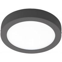 LED-Kattovalaisin Eglo Crosslink Argolis-C pyöreä, 16.5W, Ø225x35mm, IP44, musta