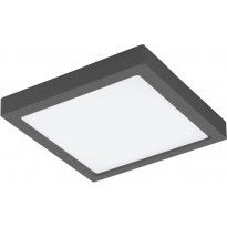 LED-Kattovalaisin Eglo Crosslink Argolis-C kulmikas, 22W, 300x300x35mm, IP44, musta